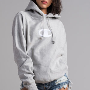 CHAMPION REVERSE WEAVE CENTER STITCH C HOODIE